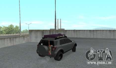 Toyota Terios 2009 OFF-ROAD MUD-TERRAIN pour GTA San Andreas sur la vue arrière gauche