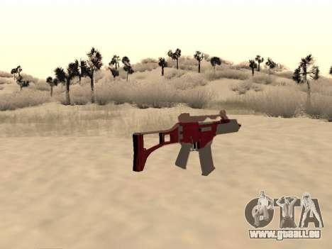 Noël G36c camo pour GTA San Andreas deuxième écran