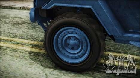 GTA 5 HVY Insurgent Pick-Up IVF pour GTA San Andreas sur la vue arrière gauche