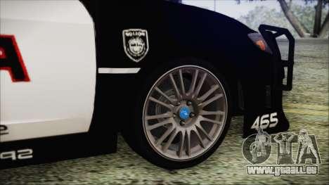 Subaru Impreza Police pour GTA San Andreas sur la vue arrière gauche
