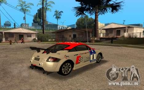 Audi TT 2004 Tunable pour GTA San Andreas vue intérieure