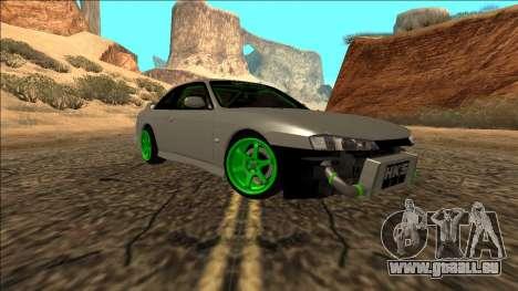 Nissan Silvia S14 Drift Monster Energy für GTA San Andreas zurück linke Ansicht