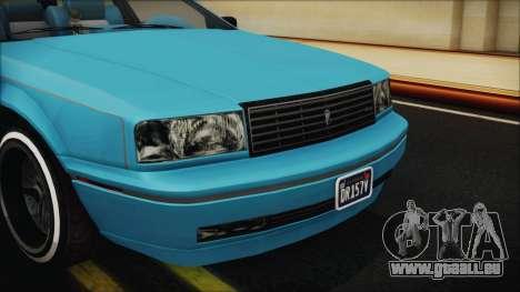 GTA 5 Albany Primo Custom Bobble Version IVF pour GTA San Andreas vue intérieure