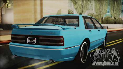 GTA 5 Albany Primo Custom Bobble Version IVF pour GTA San Andreas laissé vue