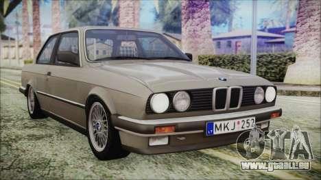BMW 320i E21 1985 LT Plate pour GTA San Andreas