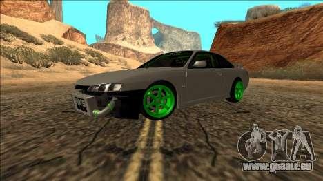 Nissan Silvia S14 Drift Monster Energy für GTA San Andreas rechten Ansicht