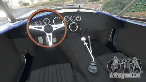 GTA 5 AC Cobra v1.3 arrière droit vue de côté