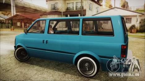 GTA 5 Declasse Moonbeam No Interior für GTA San Andreas linke Ansicht