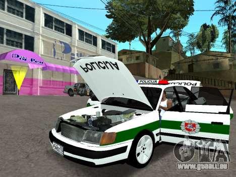 Audi 100 C4 1995 Police pour GTA San Andreas vue arrière