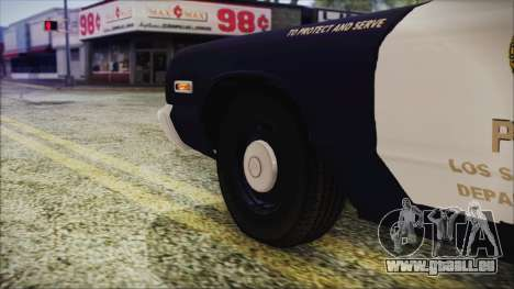 Dodge Monaco 1974 LSPD Highway Patrol Version für GTA San Andreas zurück linke Ansicht