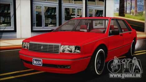 GTA 5 Albany Primo Custom No Interior pour GTA San Andreas vue de droite