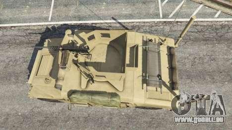 GTA 5 HMMWV M-1116 [desert] Rückansicht