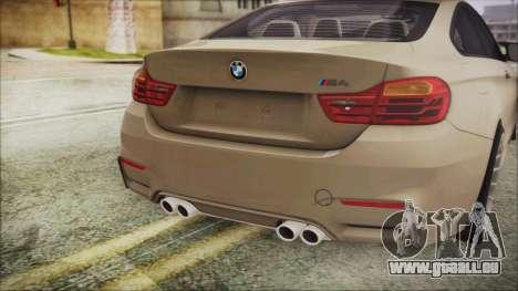 BMW M4 Coupe für GTA San Andreas Rückansicht