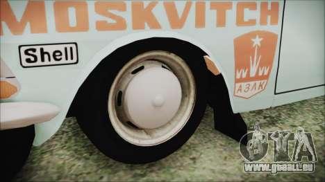 Moskvich 427 Rallye v0.5 pour GTA San Andreas sur la vue arrière gauche