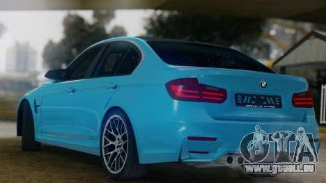BMW M3 F30 SEDAN für GTA San Andreas rechten Ansicht