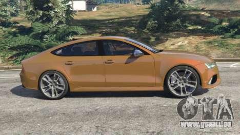 GTA 5 Audi RS7 2016 vue latérale gauche