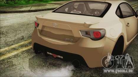 Toyota GT86 für GTA San Andreas Rückansicht