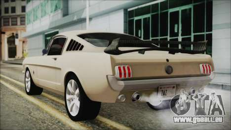 Ford Mustang Fastback 1966 Chrome Edition für GTA San Andreas linke Ansicht