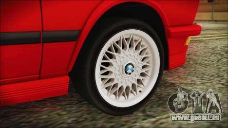 BMW M5 E28 1988 für GTA San Andreas zurück linke Ansicht