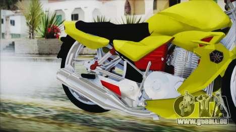 Yamaha Tuning Full Cromo pour GTA San Andreas vue de droite