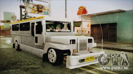 Markshop Jeepney pour GTA San Andreas