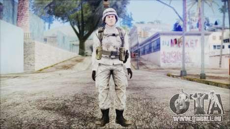 World In Conflict US Marine Winter pour GTA San Andreas deuxième écran