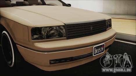 GTA 5 Albany Primo Custom IVF für GTA San Andreas Seitenansicht