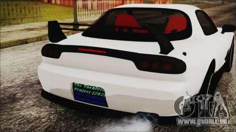 Mazda RX-7 Enhanced Version pour GTA San Andreas vue arrière