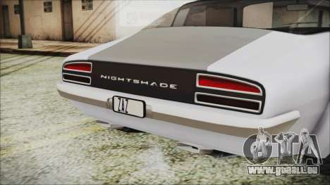 Imponte Nightshade für GTA San Andreas Rückansicht