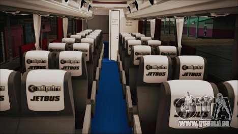 JetBus Marissa Holiday pour GTA San Andreas vue de droite