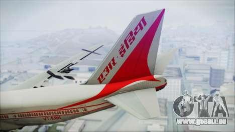 Boeing 747-237Bs Air India Rajendra Chola für GTA San Andreas zurück linke Ansicht
