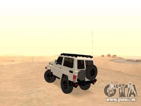 Toyota Machito Off-Road (IVF) 2009 für GTA San Andreas zurück linke Ansicht