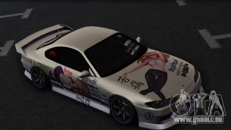 Nissan Silvia S15 Daily Drifters pour GTA San Andreas vue intérieure