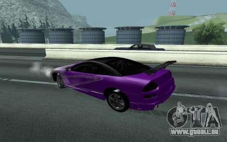 Mitsubishi Eclipse GTS Tunable pour GTA San Andreas vue arrière