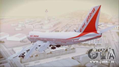 Boeing 747-237Bs Air India Samudragupta für GTA San Andreas linke Ansicht