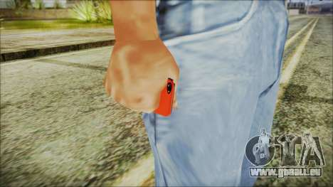 iPhone 5 Red pour GTA San Andreas troisième écran