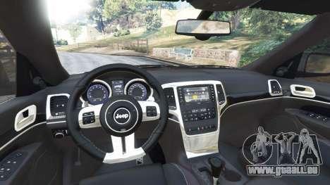 GTA 5 Jeep Grand Cherokee SRT8 2013 hinten rechts