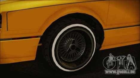 GTA 5 Albany Primo Custom Bobble Version pour GTA San Andreas sur la vue arrière gauche