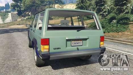 GTA 5 Jeep Cherokee XJ 1984 [Beta] hinten links Seitenansicht