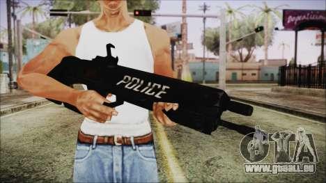 Cyberpunk 2077 Rifle Police pour GTA San Andreas troisième écran