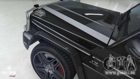 GTA 5 Mercedes-Benz G63 AMG v1 avant droite vue de côté