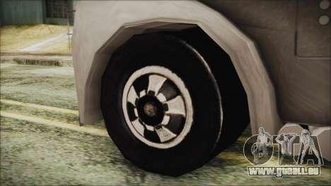 Hot Wheels Funny Money Truck für GTA San Andreas zurück linke Ansicht