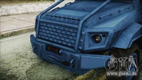 GTA 5 HVY Insurgent Pick-Up IVF pour GTA San Andreas vue arrière