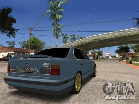 BMW 535i pour GTA San Andreas sur la vue arrière gauche