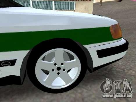 Audi 100 C4 1995 Police für GTA San Andreas rechten Ansicht