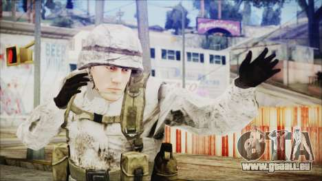 World In Conflict US Marine Winter pour GTA San Andreas