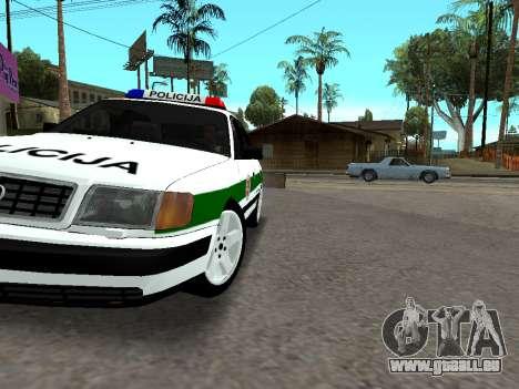 Audi 100 C4 1995 Police pour GTA San Andreas vue de dessus