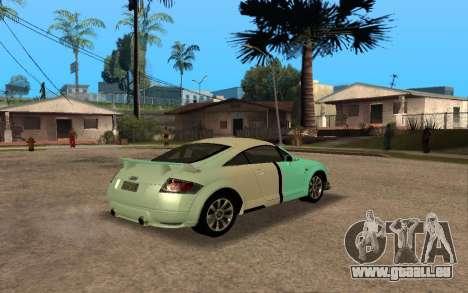 Audi TT 2004 Tunable pour GTA San Andreas vue de dessus