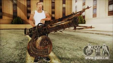 Fallout 4 Shredding Minigun pour GTA San Andreas troisième écran