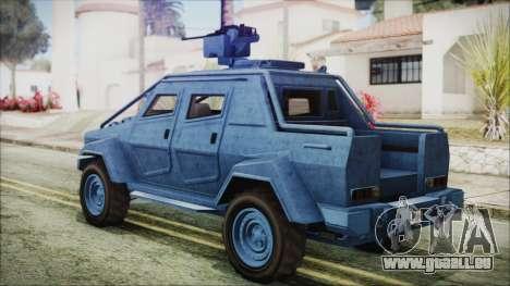 GTA 5 HVY Insurgent Pick-Up IVF für GTA San Andreas linke Ansicht